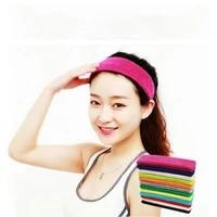 1pc women men headband hairband cotton sweat sweatband headband yoga gym stretch head band for sport elasticity sweat bands