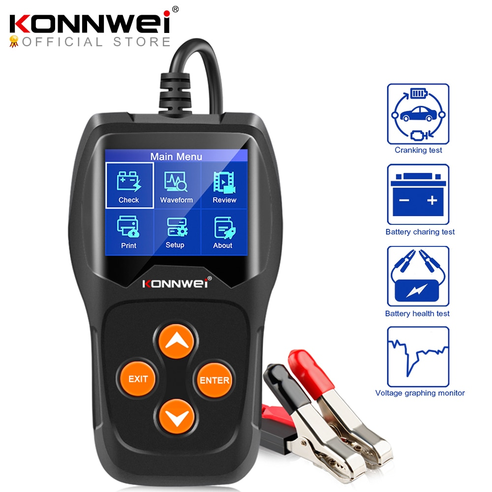 AliExpress - KONNWEI KW600 Car Battery Tester 12V 100 to 2000CCA 12 Volts Battery Tools for the Car Quick Cranking Charging Diagnostic