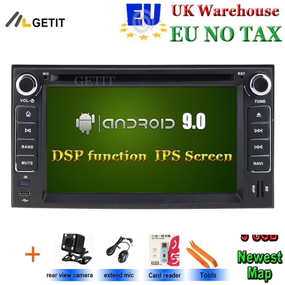 Android 9 reproductor de DVD del coche para KIA Ceed vendo KIA SORENTO SPORTAGE espectros SEDONA estrella carnaval CERATO SPORTAGE con Radio GPS BT WiFi
