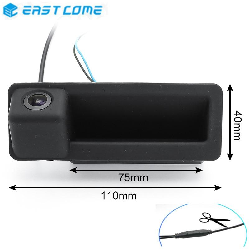 Reverse Car Rear View Camera 1080P MCCD Fisheye Lens Trunk Handle For BMW 3 Series 5 Series X5 X6 E46 E39