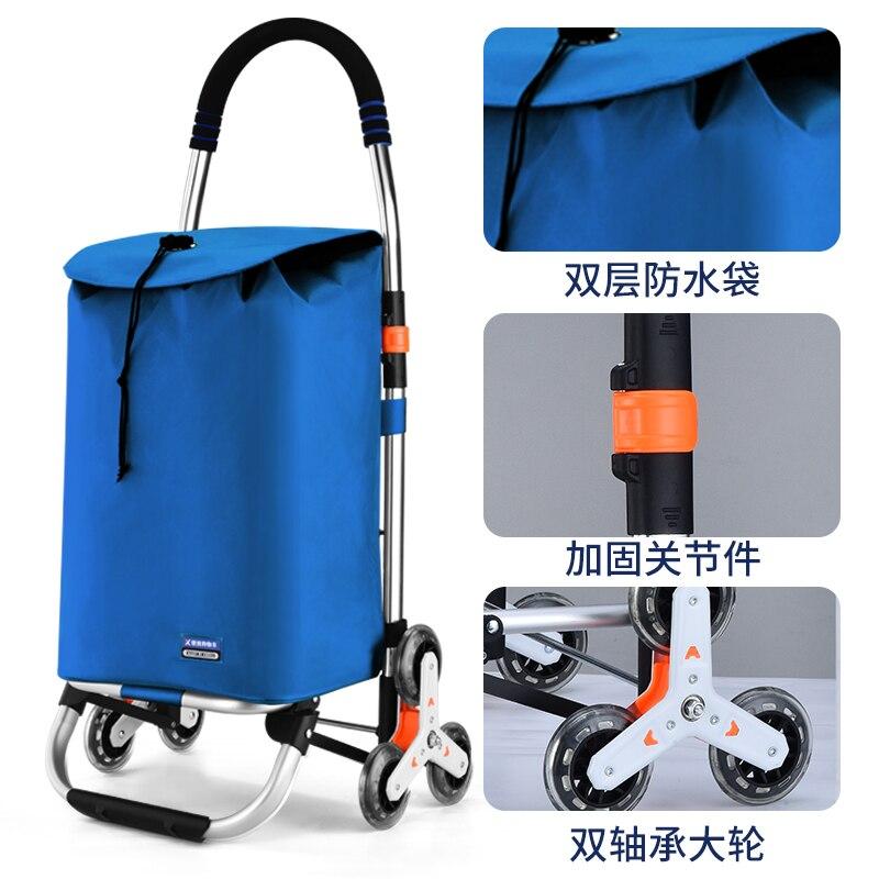 elderly Trolley shopping cart Wheels Woman Shopping Cart shopping basket Household Trailer Portable cart foldable  shopping bags