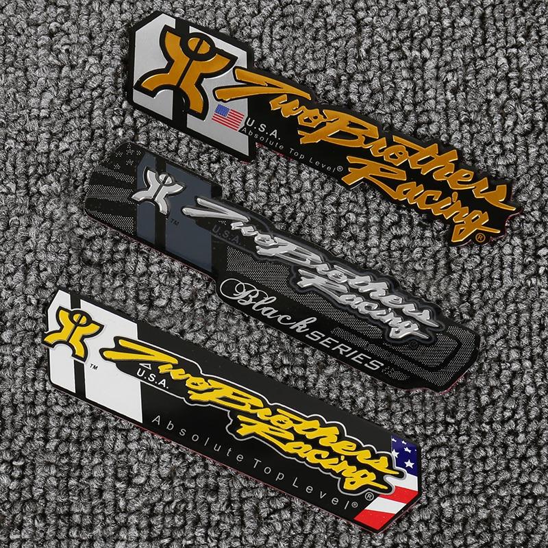 Pegatina tubo de escape de motocicleta de aluminio, escorpio de personalidad genial para dos Brother Racing