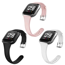 Slim Thin Narrow Strap For Fitbit Versa Band Soft Silicone Replacement Wristband For Fitbit Versa/Ve