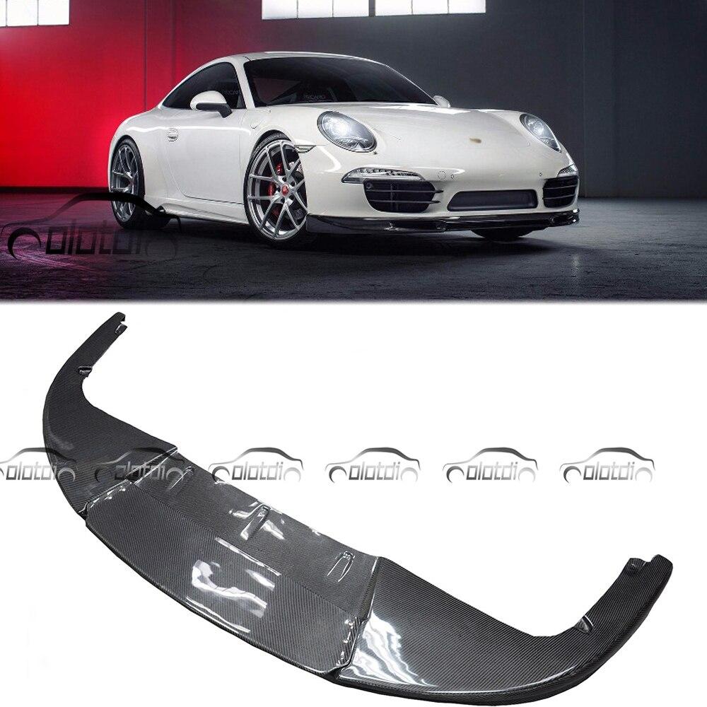 Передний бампер из углеродного волокна, спойлер подбородка для Porsche 911 Carrera 991 991,1 2012-2015