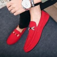 Дизайнерская мужская обувь; Zapatos De Hombre; Кожаная обувь без шнуровки; Повседневная мужская обувь; Красные мокасины для вождения; Мягкие Нескол...