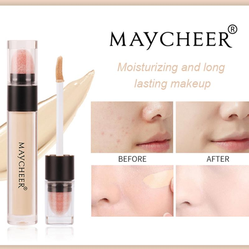 Face Concealer Lasting Waterproof Moisturizing Cover Acne Marks Spots Dark Circles Naturally Invisib