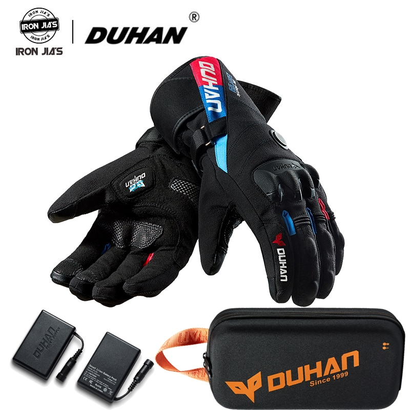 savior heating gloves thickened battery heating warm outdoor gloves motorcycle gloves shatter resistant gloves shell Duhan Winter Motorcycle Gloves Constant Temperature Heating Warm Windproof 100% Waterproof Moto Guantes Motorbike Riding Gloves