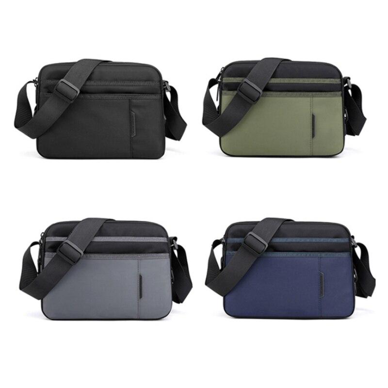 2021 New Polyester Cloth Crossbody Men's Light Messenger Bag Single Shoulder Bag College Student Travel Bag Men's Bag