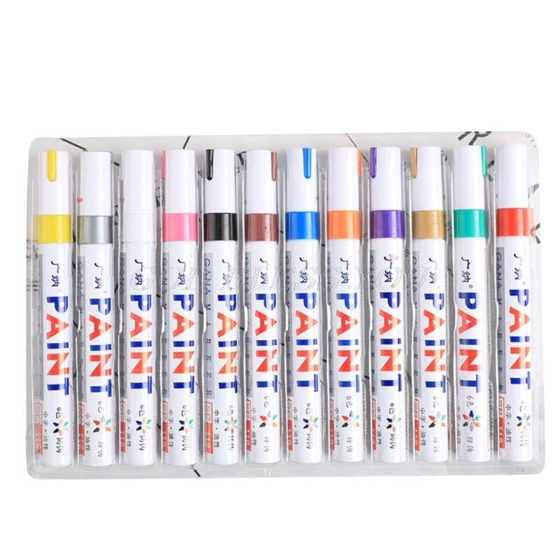 12-pz-lotto-colorful-impermeabile-penna-auto-della-gomma-del-pneumatico-del-metallo-vernice-permanente-marcatori-trasporto-di-goccia