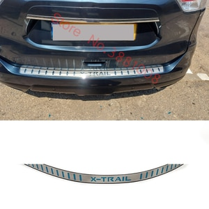 Ultrathin Stainless Steel For Nissan X-Trail X Trail T32 2014 2015- 2019 Car Rear Bumper Protector Sill Trunk Tread Plate Trim
