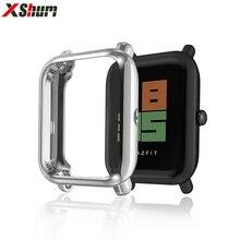 XShum Amazfit bip étui protecteur pour Huami amazfit bip accessoires Xiaomi pare-chocs placage coque en polyuréthane thermoplastique housse housse Protection écran