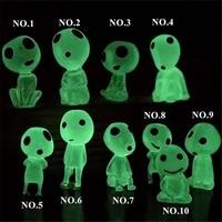Ghibli     figurines lumineuses de larbre Kodama  10 pieces  Mininatures de princesse mononoke  jouets fantaisie  decoration de la maison