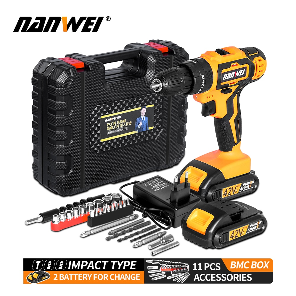 Impact Cordless Screwdriver Cordless Drill Impact Electric Drill Power Tools Hammer Drill Electric D
