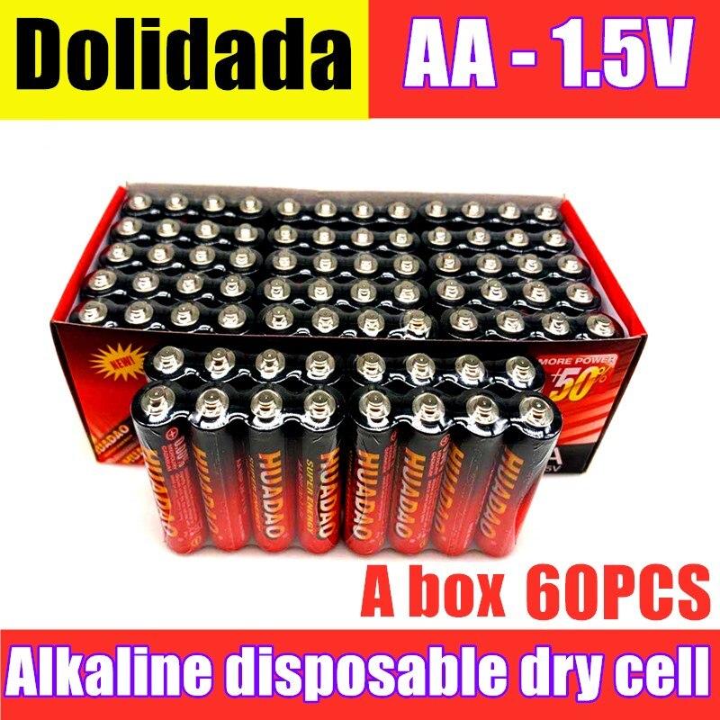 Bateria seca alcalina descartável nova aa 1.5v da bateria de huadao, apropriada para a câmera, calculadora, despertador, mouse, controle remoto