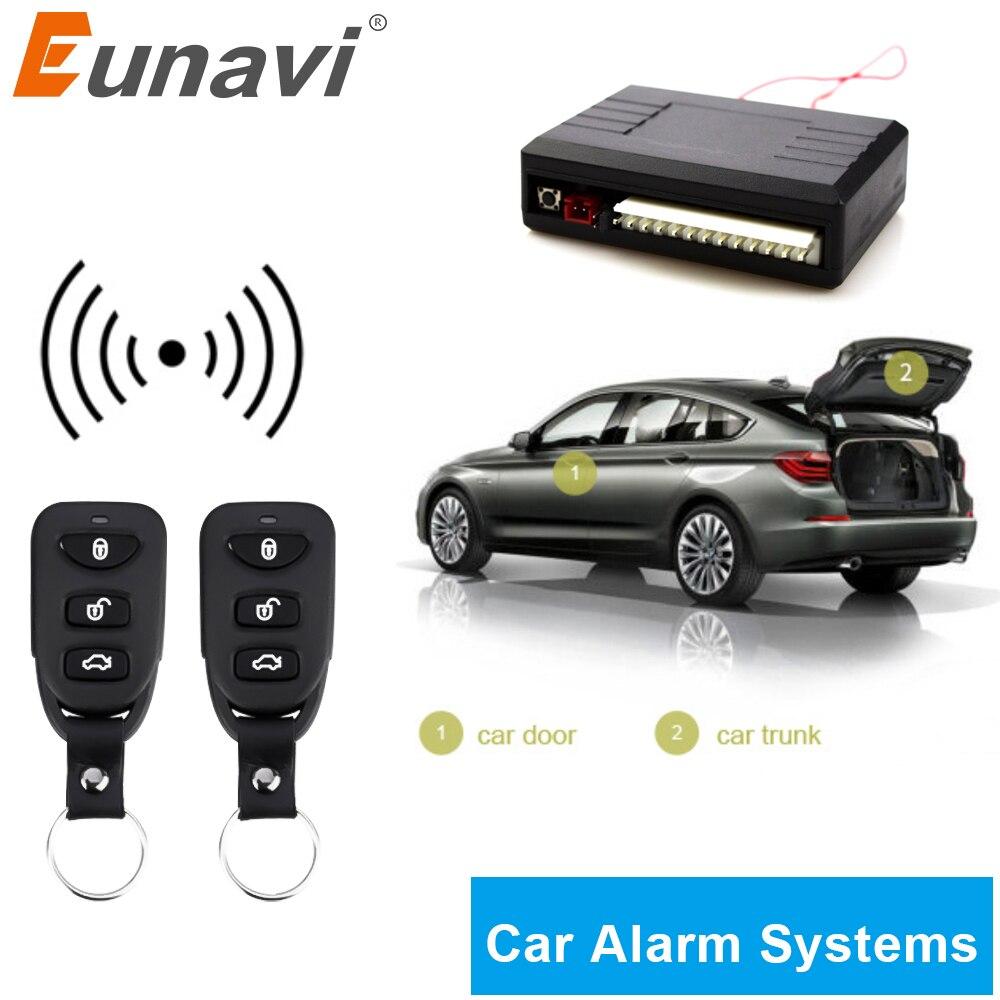 Eunavi 12V Auto Alarm Systems Car Remote Central Kit Remote Central Door Lock Keyless System Central Locking Intelligent Control