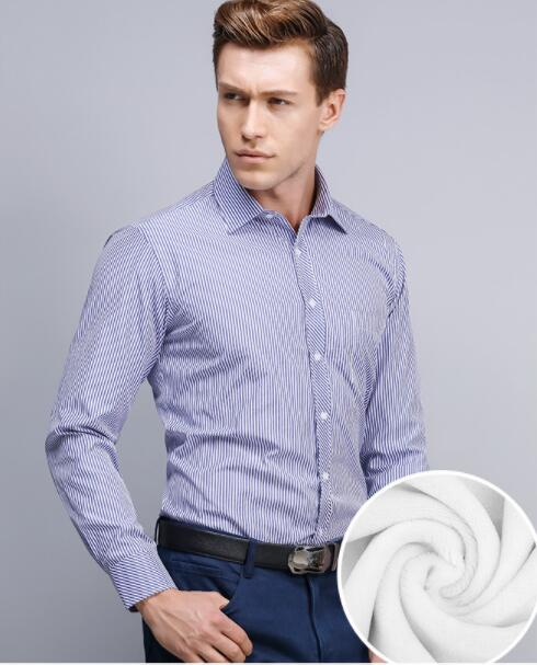 Camicie invernali da uomo e camicie rinforzate in pile camicie termiche bianche da uomo maniche lunghe abbigliamento uomo G-45