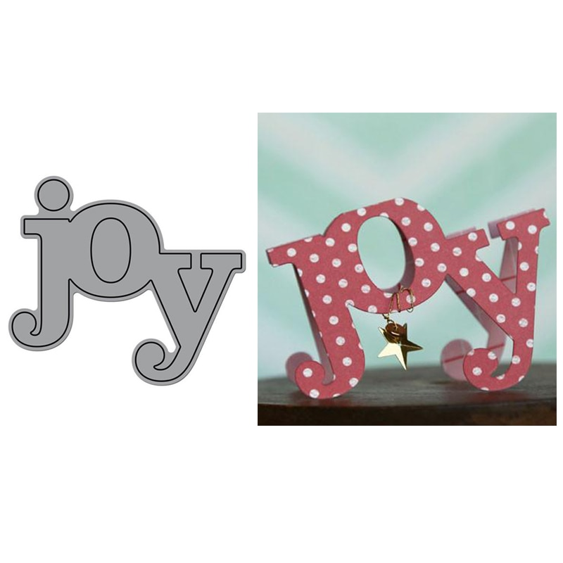 New Big Word Joy Metal Cutting Dies Stencil for DIY Scrapbooking Photo Album Embossing Paper Cards Making Decorative Crafts