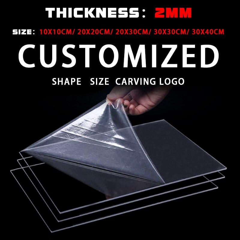 2mm de acrílico de alta calidad placa transparente de plástico plexiglás espesor de Panel claro hoja de acrílico de plexiglás de corte