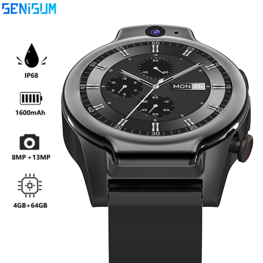 Promo IP68 Real Waterproof Smart Watch Men Outdoor Sport Swimming 64GB 1600mAh Phone Call 13MP Camera Customize NFC Smartwatch 2021New