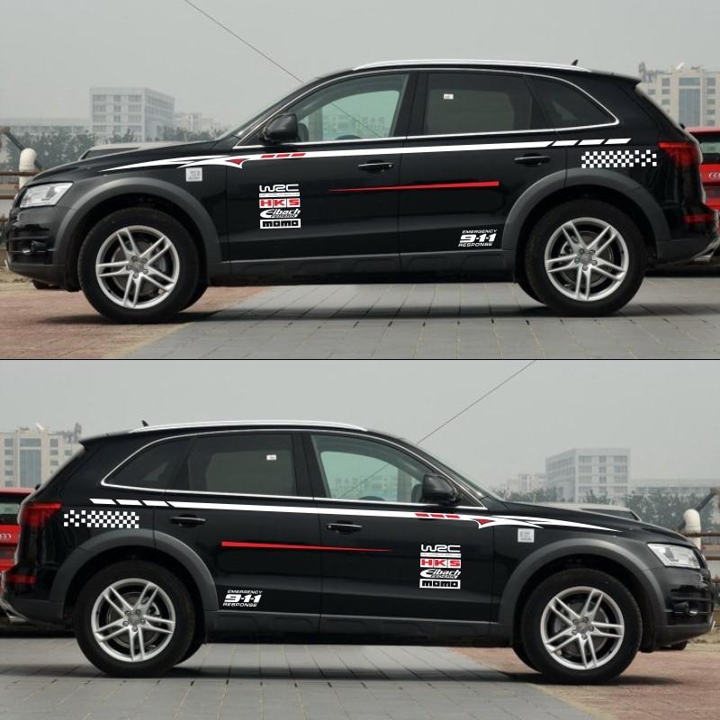 Esporte estilo do carro etiqueta do carro Para Audi Q5 Q3 Q7 esporte corpo decalques auto adesivos