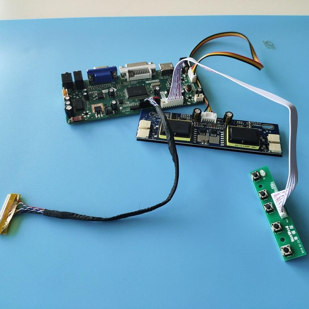 عدة ل LM190E03-TLB4/LM190E03-A4 1280x1024 لوحة 4 مصابيح HDMI + DVI + VGA LCD الصوت سائق شاشة 19