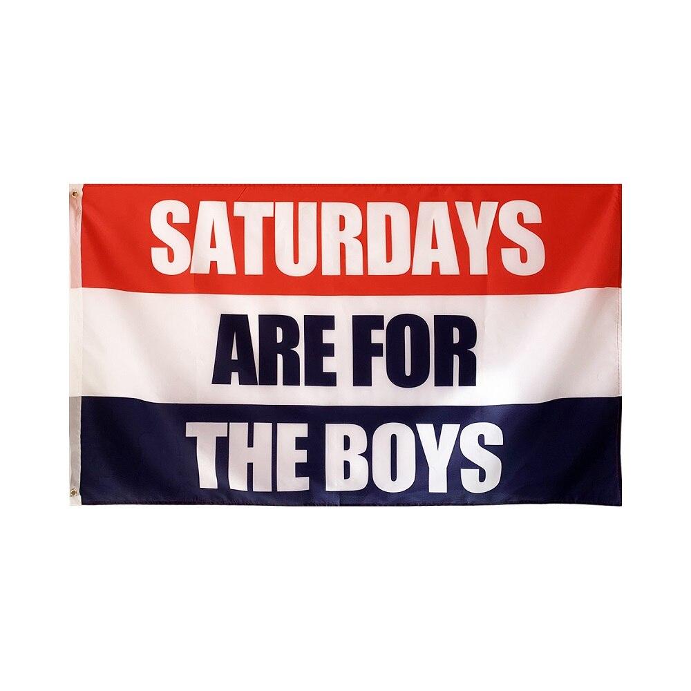 Флаг для мальчиков Saturdays, баннер, декоративные полиэфирные флаги для общежития, спальни 940 saturdays family activities