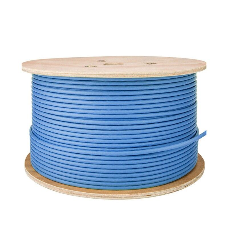 Cable Ethernet Cat 6a S/FTP, Cables Lan, instalación de doble escudo, cobre...