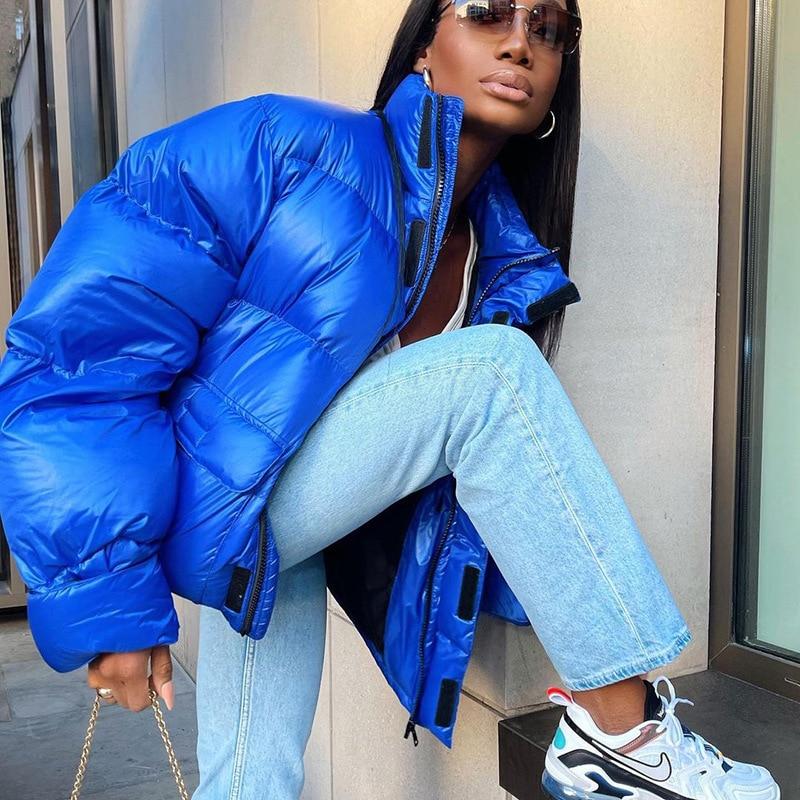 Женское зимнее пальто 2021, модная женская утепленная куртка, парки, женские зимние теплые парки, Повседневная однотонная женская куртка