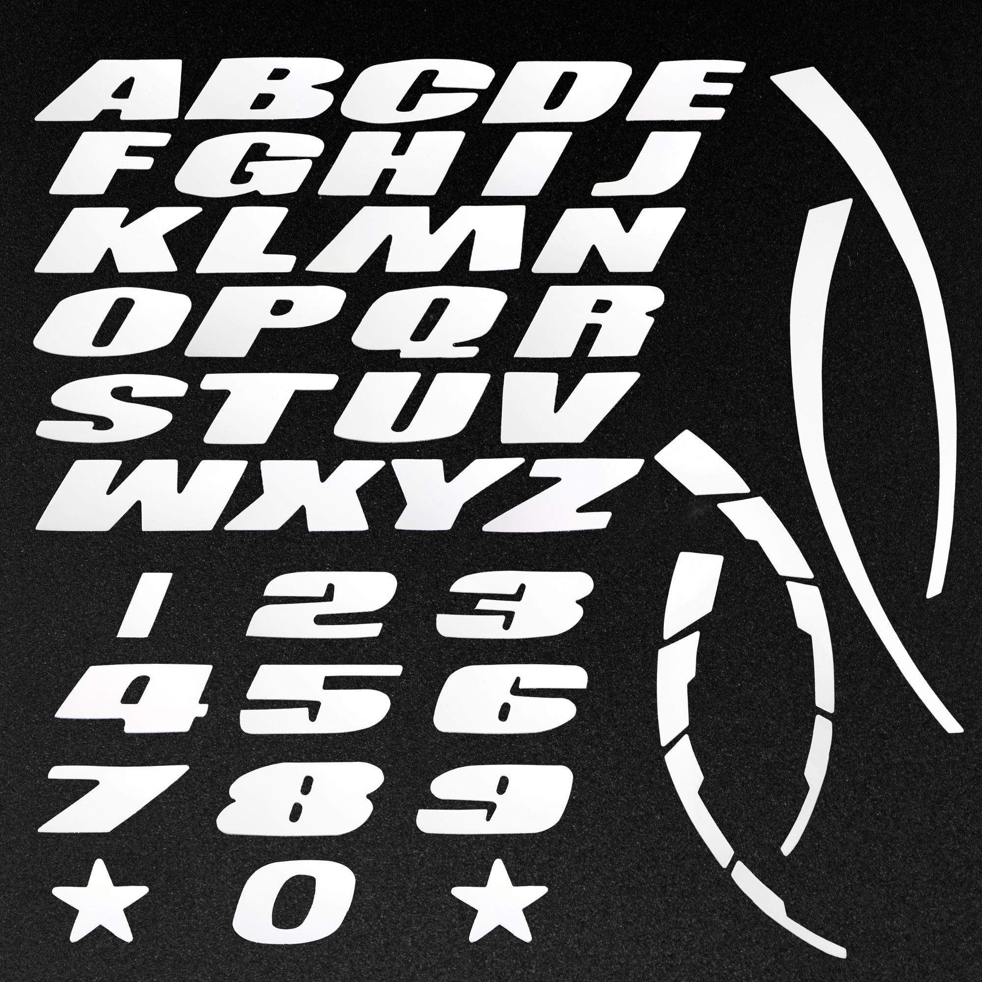 Универсальный стикер для автомобильных шин, 3D эмблема, наклейка на колеса мотоцикла, с буквенным номером, белый, красный, синий, желтый, оран...