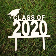 2020 College Graduation Ceremony Cake Topper Decoration High School Graduation Party Photo Prop Congrats Grad Degree Cake Topper