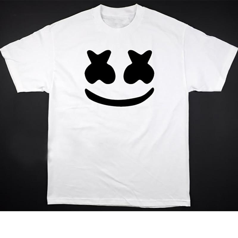 Camiseta gráfica para hombre, camiseta de talla grande para hombre, camisetas divertidas, camisa con cara sonriente, ropa informal de algodón, camiseta blanca de verano 2020