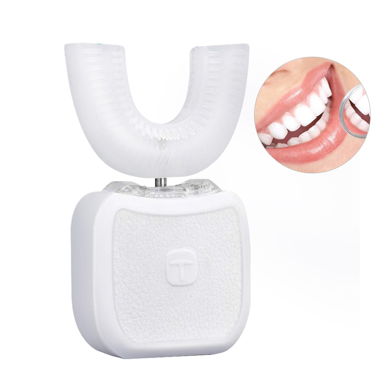 التلقائي U شكل فرشاة الأسنان الكهربائية موجات فوق صوتية نانو الأسنان الأنظف 360 درجة ذكي فرشاة الأسنان تبييض تدليك