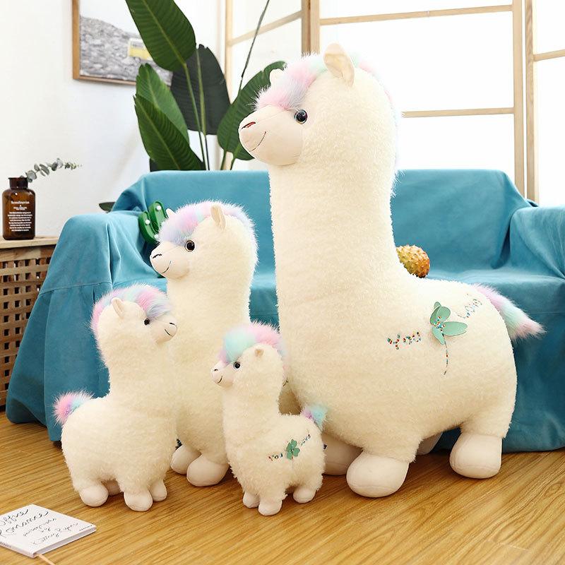 28cm alpaca stuffed toys children tv Free Shipping  lovely Alpaca Plush Doll Toys Cute Soft Llama Alpaca Stuffed Animals Dolls Children Kids Gifts