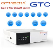 GTmedia GTC Android 6.0 TV BOX me cool k6 Combo DVB-S2 câble T2 ISDBT 4k récepteur Satellite 2G + 16G Wifi Amlogic S905D