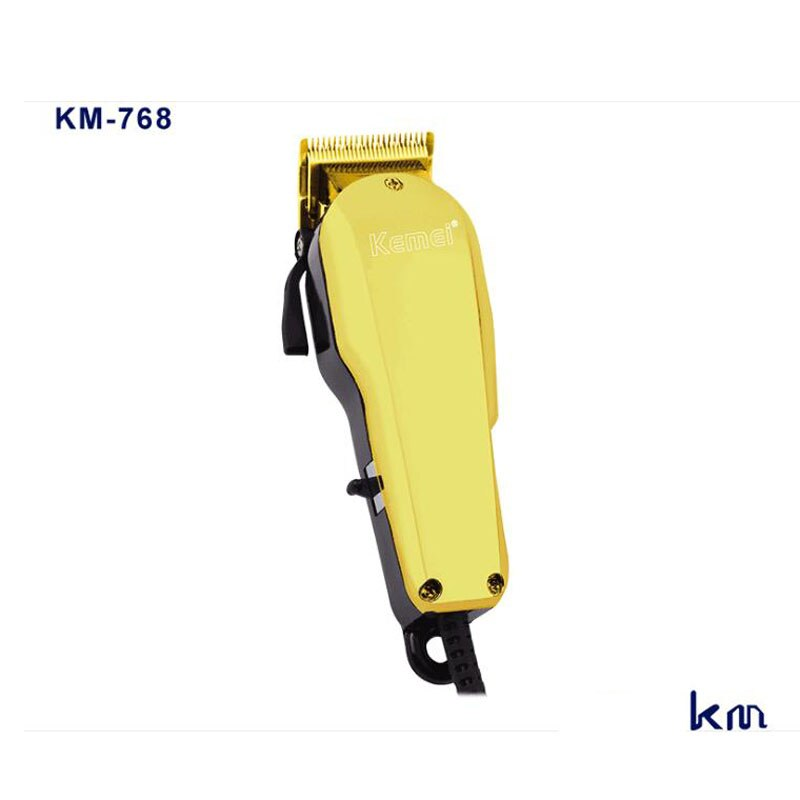 Kemei مقص الشعر km-768 المهنية الحبل مقص الشعر 12 واط قوية مقص الشعر رئيس النفط المقص