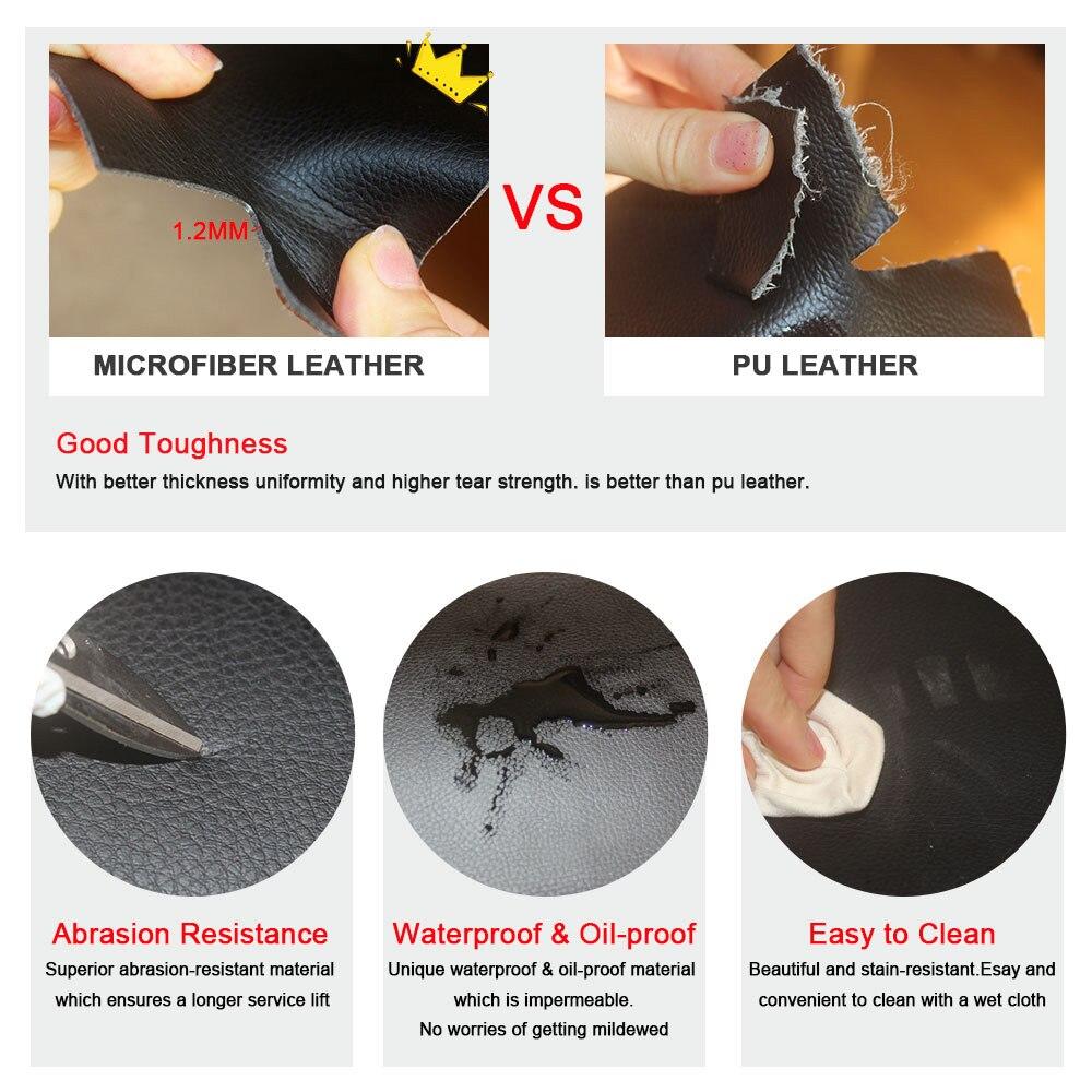 For VW Golf 7 MK7 VII 2014 2015 2016 Microfiber Leather Car Interior Center Control Armrest Box Pad Cover Trim