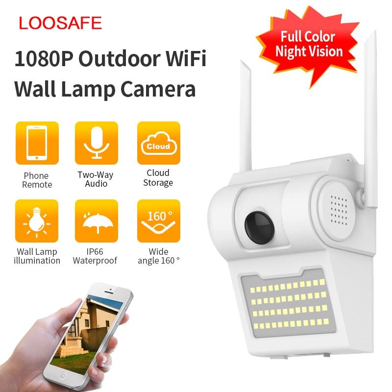 1080P уличная WiFi IP камера беспроводной 48 Светодиодный Светильник ИК Аудио Видео IP66 водонепроницаемый домашний сад CCTV безопасность контроль д...