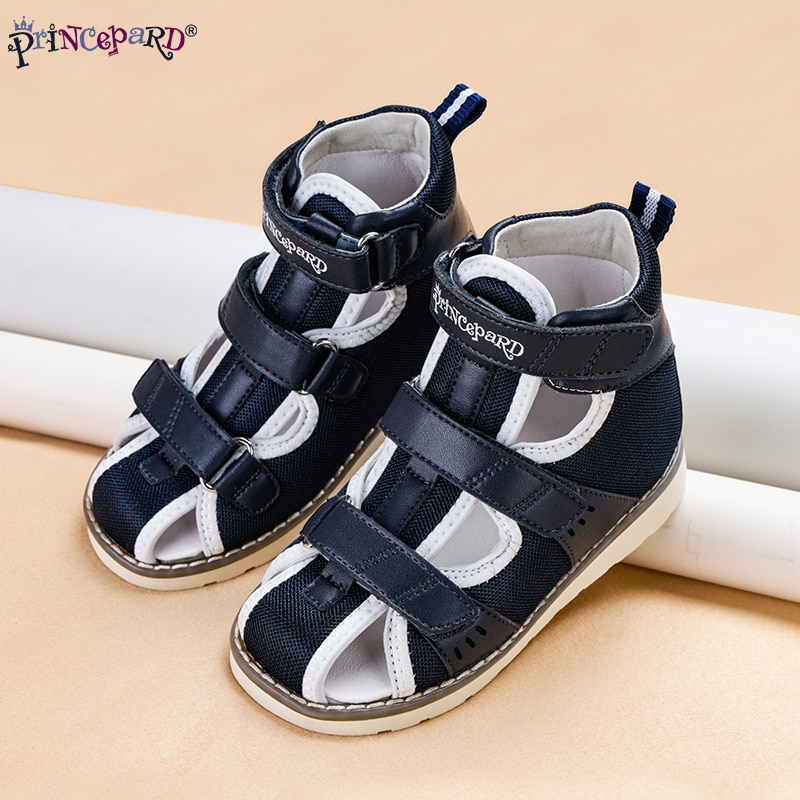 Princepard Children Flat Sandals for Girls Boys Orthopedic Shoes for Arch Support Apring Summer Closed Toe Toddler Kids Sandals enlarge