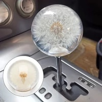 car jdm shift knob 2 7 70mm head crystal acrylic ball with dandelion real flowers for manual automatic vehicles gear shifter
