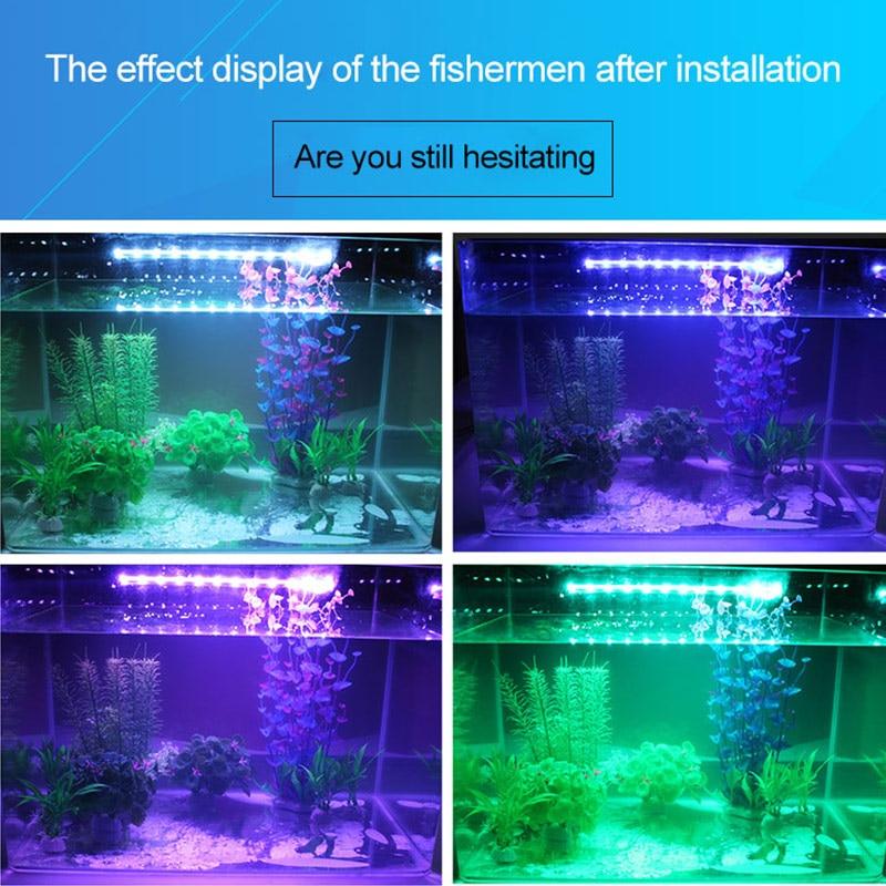 19-49CM Aquarium Light LED Waterproof Fish Tank Light  Submersible Underwater Clip Lamp Aquatic Decor EU 220V