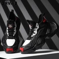 Кроссовки мужские высокие, легкие дышащие кеды, Повседневная дизайнерская обувь, черные, красные, большие размеры 39-46