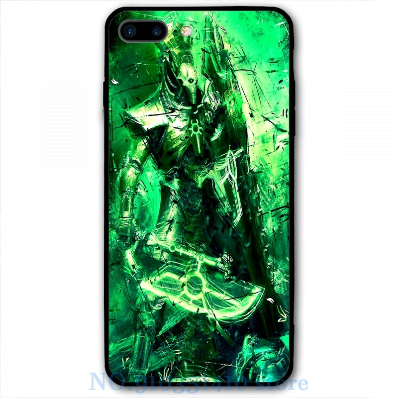 Necron lychguard inflexível caso de telefone para o iphone 11 pro 2020 x xr xs max 8 7 6s plus 5S tpu macio vidro capa traseira