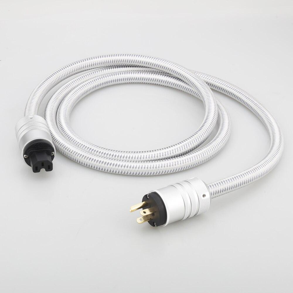 سلك طاقة عالي الجودة من Audiocrast OFC HiFi ، كابل طاقة ذكر إلى أنثى ، قابس الولايات المتحدة/الاتحاد الأوروبي/الاتحاد الأفريقي لمضخم الصوت ، مضخم الصو...