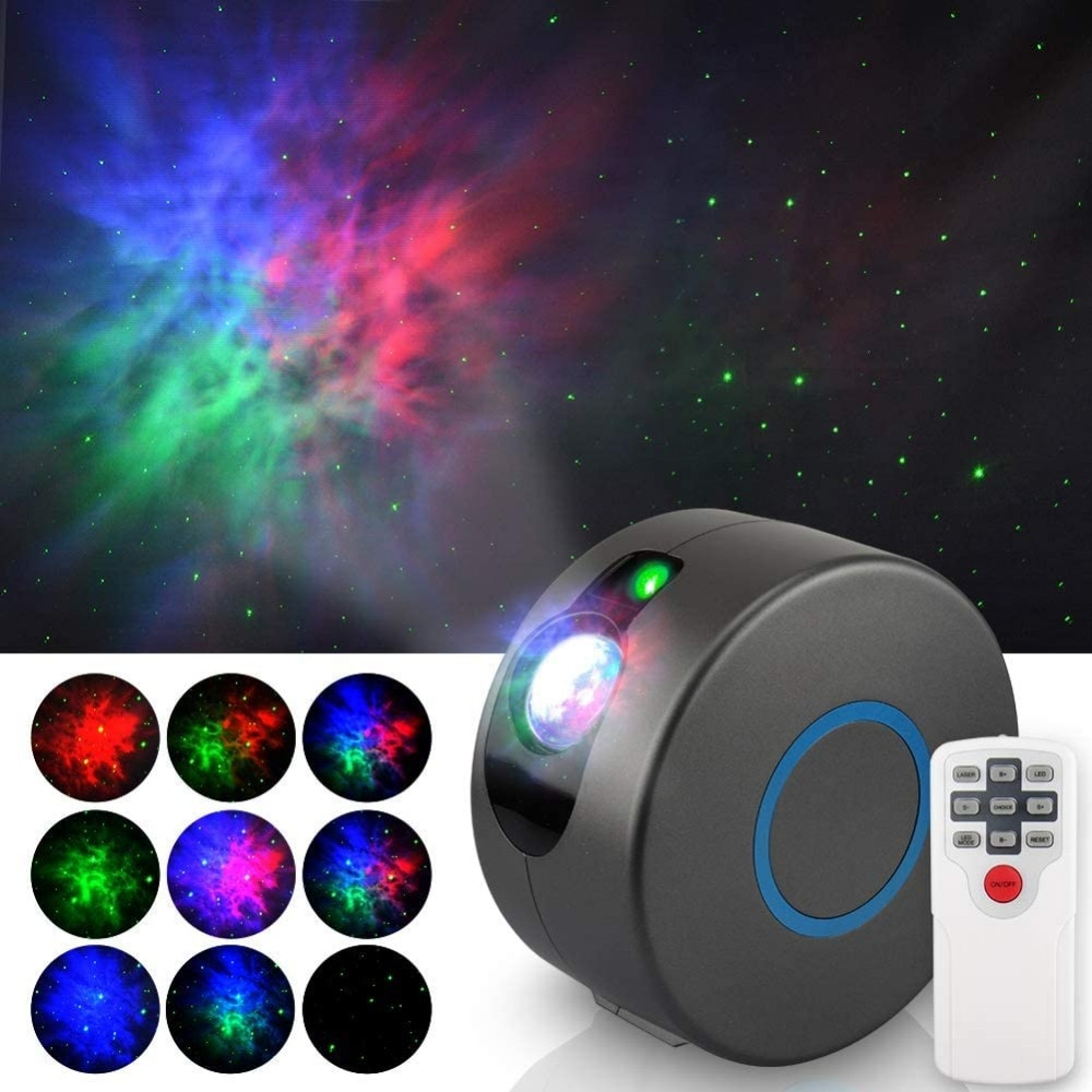 Aurora Star Galaxy Starry Sky LED Projector Lamp Rotating Night Light Colorful Nebula Cloud Lamp Atmospher Bedroom Beside Lamp