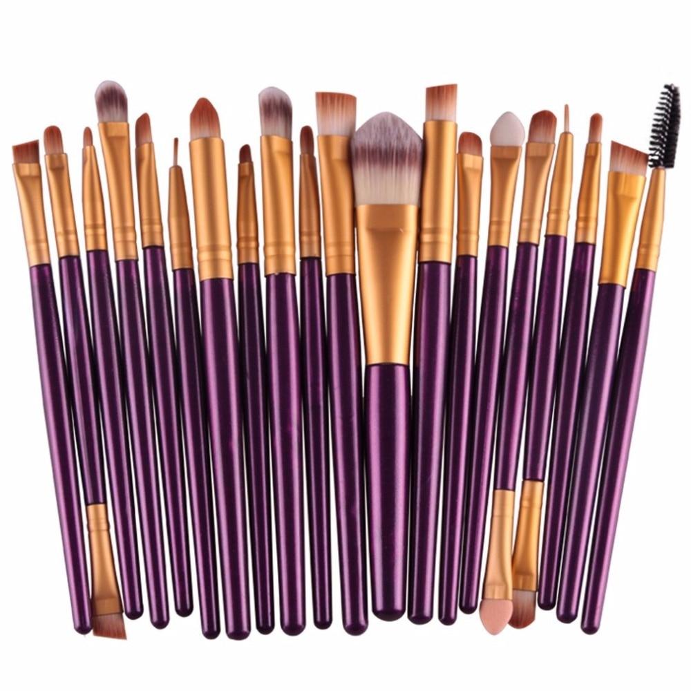 20 pcs/set Eye Makeup Brushes Set Eyeshadow Blending Brush Powder Foundation Eyes Eyebrow Lip Eyeliner Brush Cosmetic Tool Kit недорого