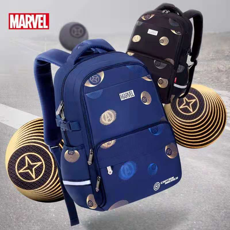2021 Disney New Marvel School Bags For Boys Primary Student Shoulder Orthopedic Backpack Spider Iron Man Captain America Mochila