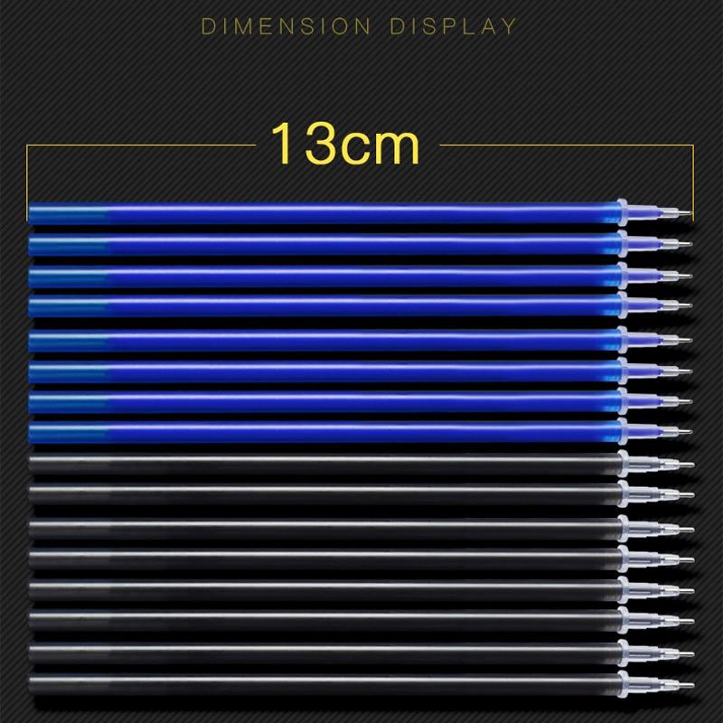 100Pcs/Set Erasable Gel Pen 0.5mm Erasable Pen Refill Rod Blue Black Ink Washable Handle For School Stationery Office Writing