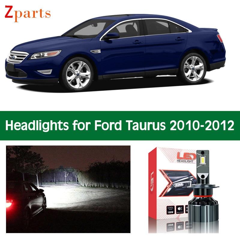 Автомобильные лампы для Ford Taurus 2010 2011 2012 светодиодный фары ближнего света, дальний свет, Сверхъяркие автомобильные лампы, аксессуары для осв...