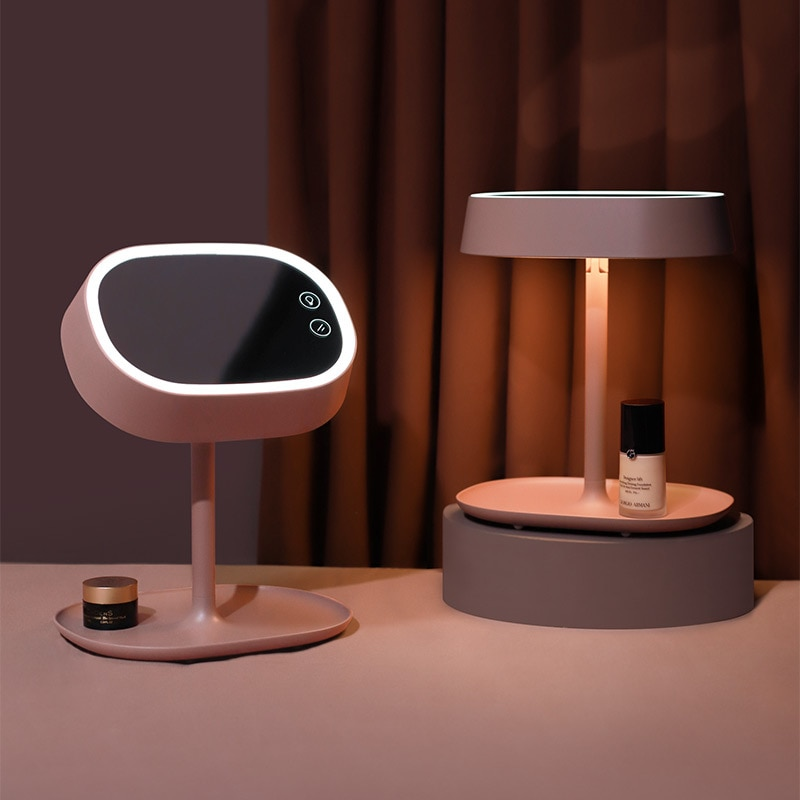 LED Makeup Mirror Table Lamp USB Rechargeable Dual-use Fill Light Beauty Makeup Night Light Desktop Decoration Gifts for Girls enlarge