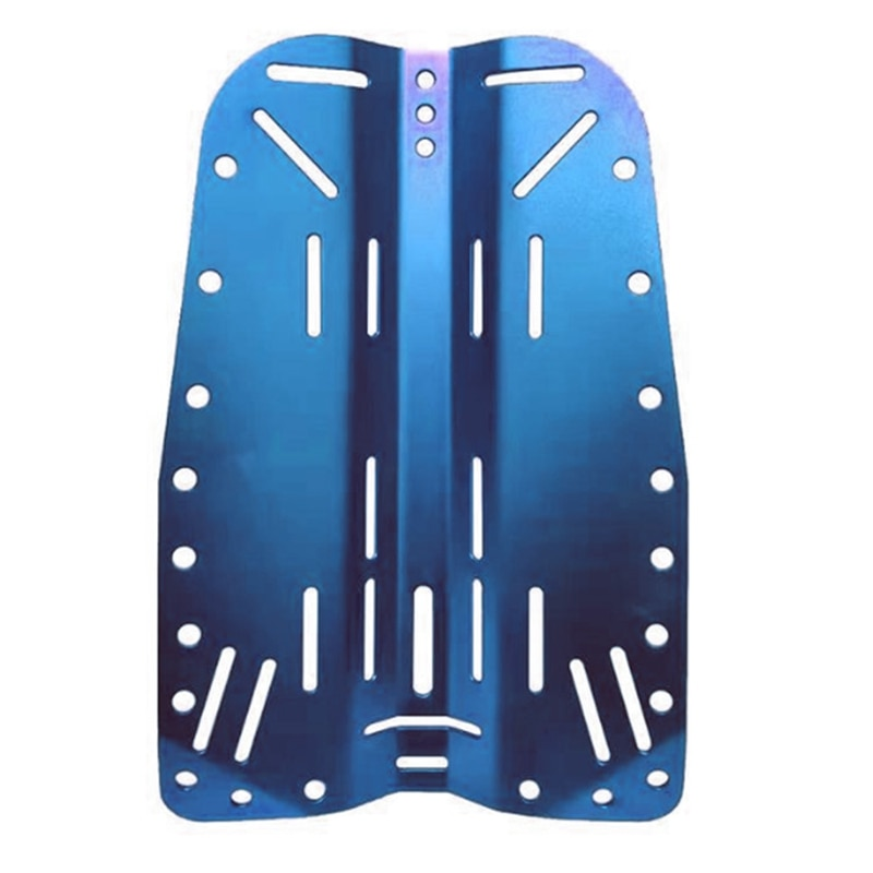 Placa trasera de buceo de aluminio, azul